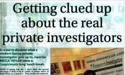 media articles private Detective Haslemere & surrey